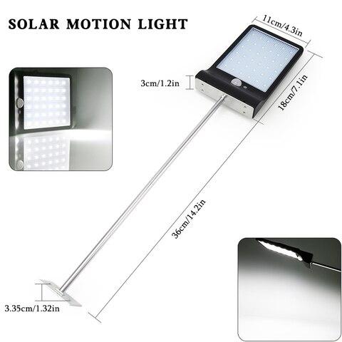 1 ac85 4pcs lampadas solares 36 leds