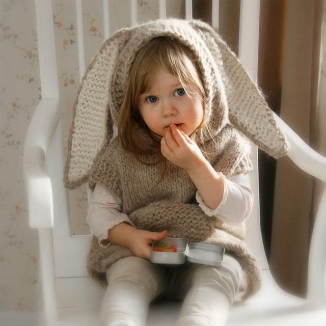Meninas vestido de bebê vestido de camisola camisola jaqueta de coelho casaco de malha primavera outono baby girl roupas roupas puxar enfant ropa ninos