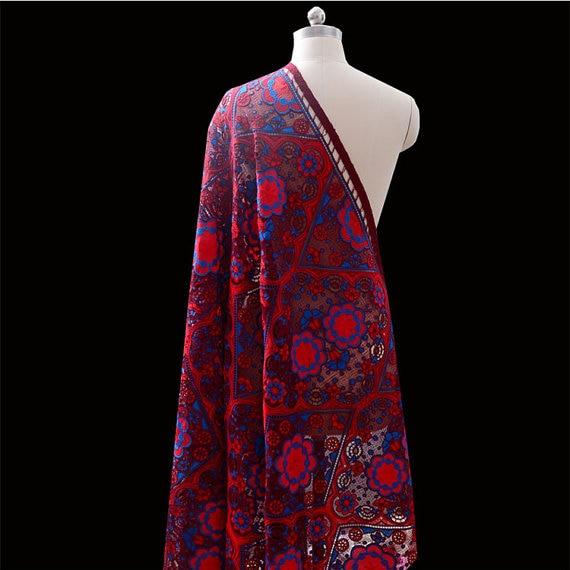 3 yardsheavy brodé dentelle tissu de luxe broderie maille tulle haute couture dentelle tissu