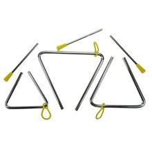 Горячие стальные ритм музыкальные ударные треугольные инструменты с бойцами, набор из 3