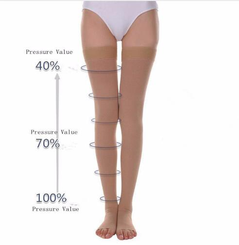 9a296c9bf4 Aliexpress.com : Buy A Pair Compression Stockings Varicose Veins30 40mmHg Pressure  mid Calf length Medical Stockings for Varicose Veins from Reliable ...