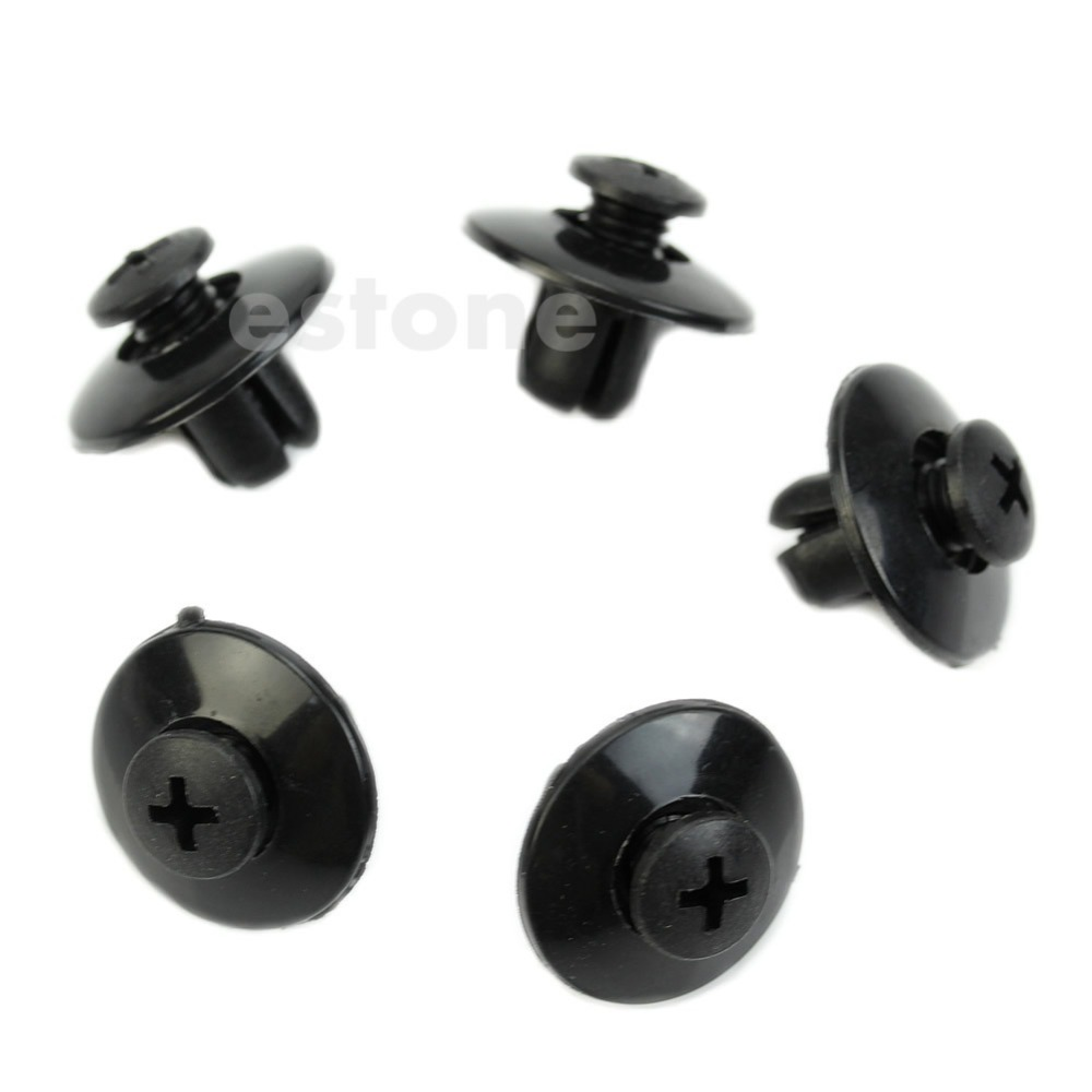 QILEJVS Hot selling 10pcs 8MM Car Rivet Fender Liner Clips Fasteners For Honda