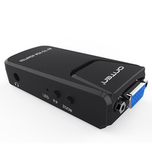 ONTEN 3-color Lotus Head RCA AV To VGA Video Converter With 3.5mm Audio For DVD Webcam/Set-top Box To VGA HDTV Projector Adapter