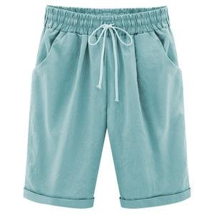 Image 5 - Summer Female Five Pants Thin Outer Wear Pants Large Size Women Slacks 6XL Casual Pants Harem Pants Beach Wear