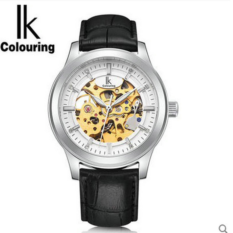Ik for fully automatic mechanical watch cutout inveted male casual watch luminous watch