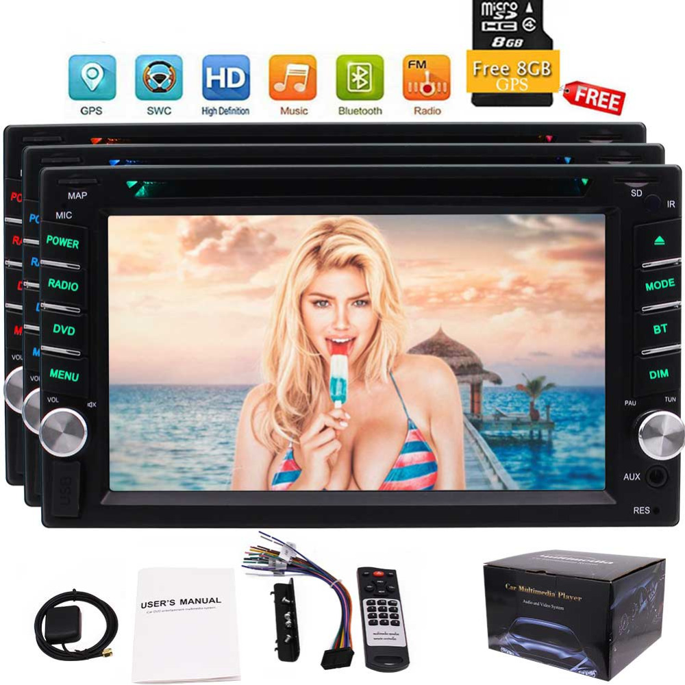 2 Din Autoradio Car Radio Stereo In Dash 6.2'' Headunit DVD Player Capacitive Touch Screen Auto Radio Bluetooth USB/SD FM/AM/RDS 2 din autoradio car radio stereo in dash 6 2 headunit dvd player capacitive touch screen auto radio bluetooth usb sd fm am rds
