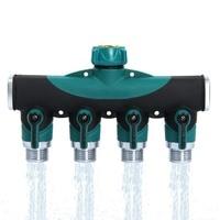 HOT 1PC 4 Way Garden Lawn Water Hose Connector Watering Splitter Supplies