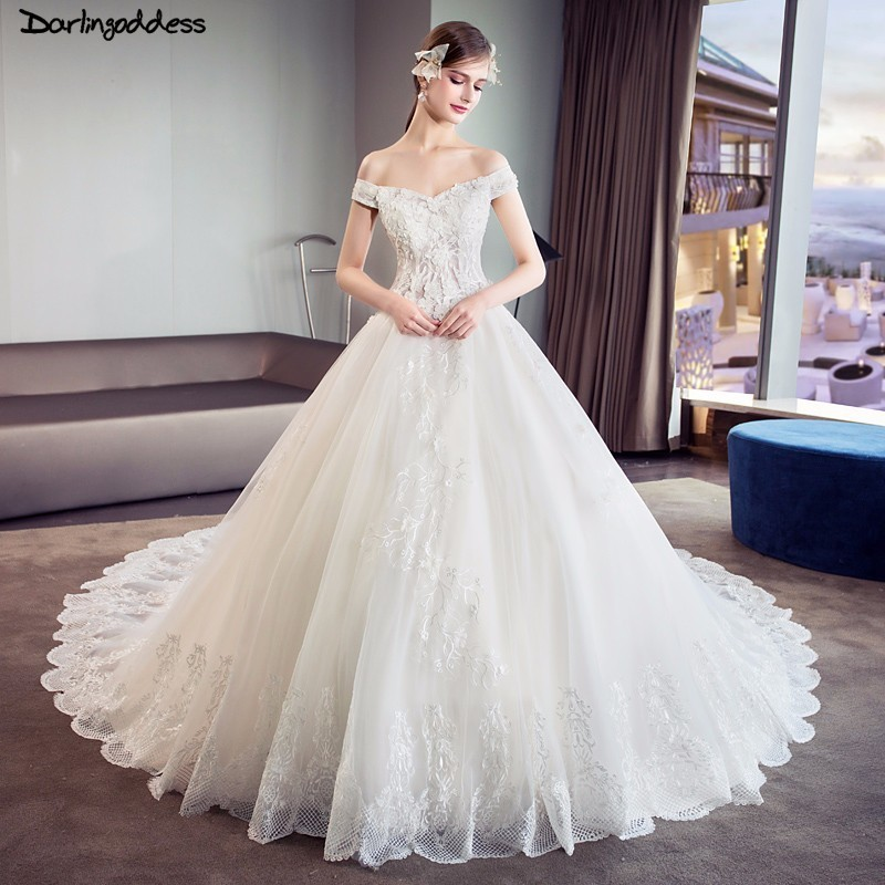 Luxury Wedding Dress 2018 Princess Ball Gown Wedding Dresses Plus