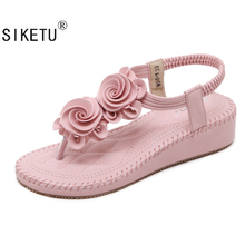 SIKETU New Casual Sandals Bohemia High Heels Sandals Summer Women High Heel Sandals Pointed Toe High-Heeled Shoes Casual Shoes
