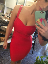 Women sexy bandage dress summer front crosses 11 solid colors spaghetti strap stretch bodycon party ball dress