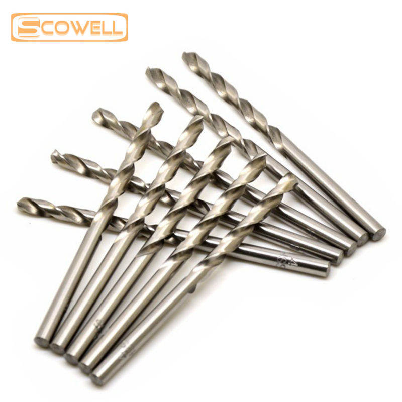 Free Shipping 2mm HSS M2 fully ground straight shank twist drill bits for metal drilling,professional 10pcs/box twist drill bits free shipping of 1pc 14 5 212mm cnc grinded hss m2 made taper shank twist drill bits for various kinds of material drilling work