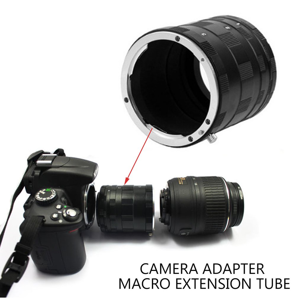 Camera Adapter Macro Extension Tube Ring For Nikon D7000 D7100 D5300 D5200 D5100 D5000 D3200 D3100 D3000 D90 D80 D70 D60 DSLR