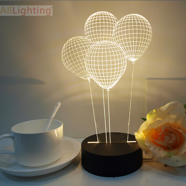 Superior Free Shipping Balloon 3D Table Lamp Art Deco Crystal Desk Lamp Table Lamp  For Bedroom Baby