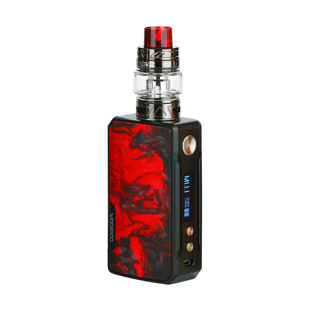 Electronic Cigarette Voopoo Drag 2 177W TC Kit w/ Uforce T2 SubOhm Tank Powered By Dual 18650 Battery Vape Vaporizer vs Luxe Kit