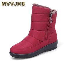 MVVJKE 2019The חדש החלקה עמיד למים חורף מגפיים בתוספת כותנה קטיפה נשים נעליים חם אור גדול גודל 41 42 שלג bootsE1872
