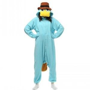 Image 2 - Unisex Perry Thú Mỏ Vịt Trang Phục Onesies Quái Vật Cosplay Đồ Ngủ Dành Cho Người Lớn Pyjamas Động Vật Ngủ Jumpsuit