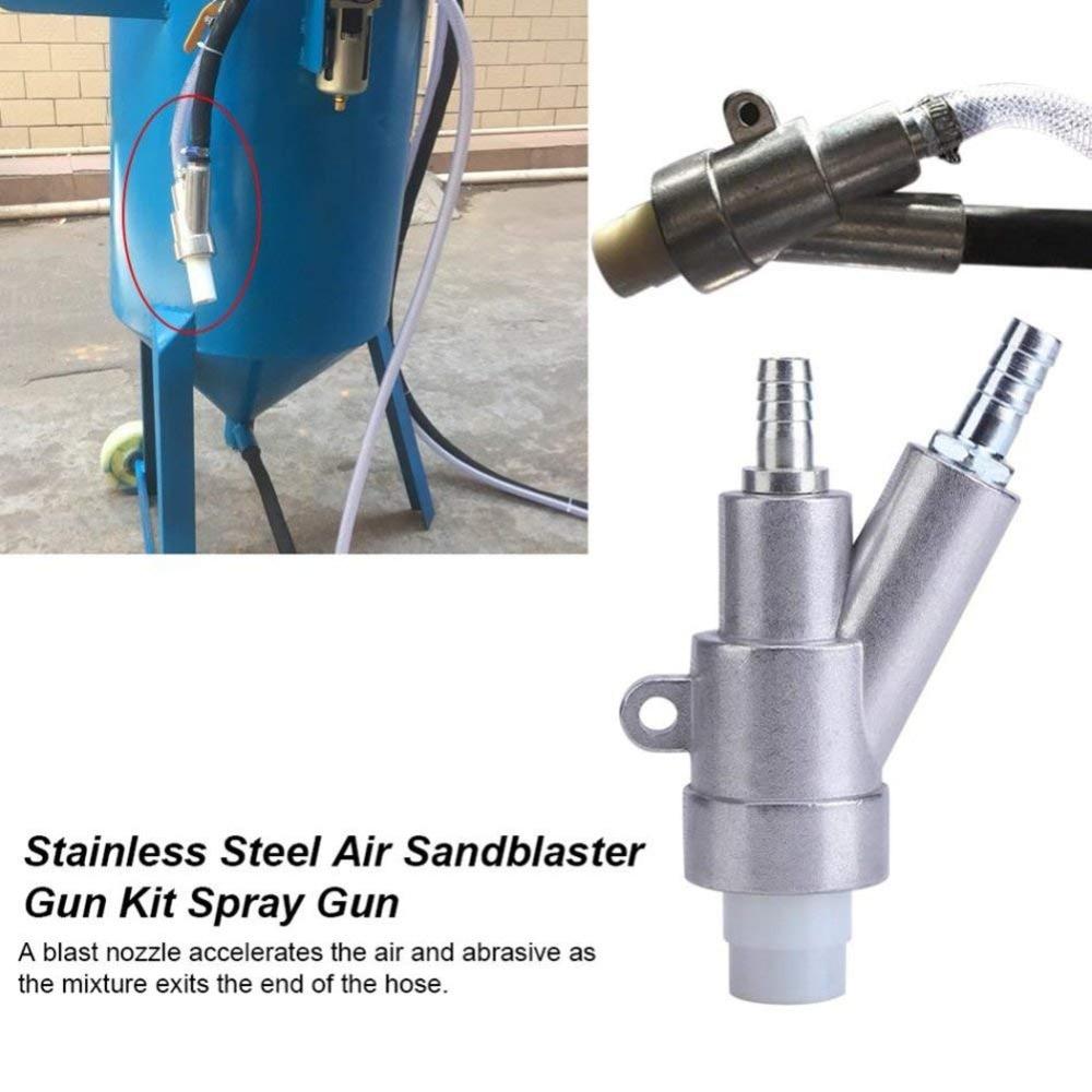 US $34 57 9% OFF|Air Sandblaster SandBlasting gun Kit for Rust Remove  Sandblast cabinet with 35*20*6mm boron carbide Sandblaster nozzle Tip-in  Spray
