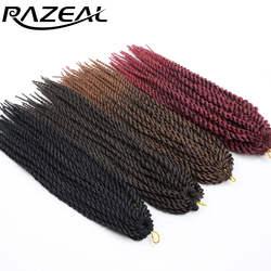 Razeal Micro вязанная косами 14 дюймов Сенегальский крутить Химическое наращивание волос для детей и подростков синтетических плетение волос