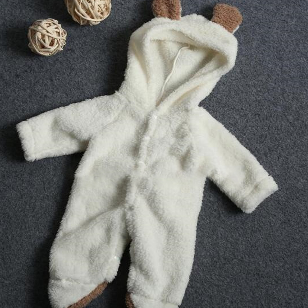 Newborn Infant Baby Girl Boy Clothes Cute 3D Bunny Ear Romper Jumpsuit Playsuit Autumn Winter Warm Bebes Rompers One Piece
