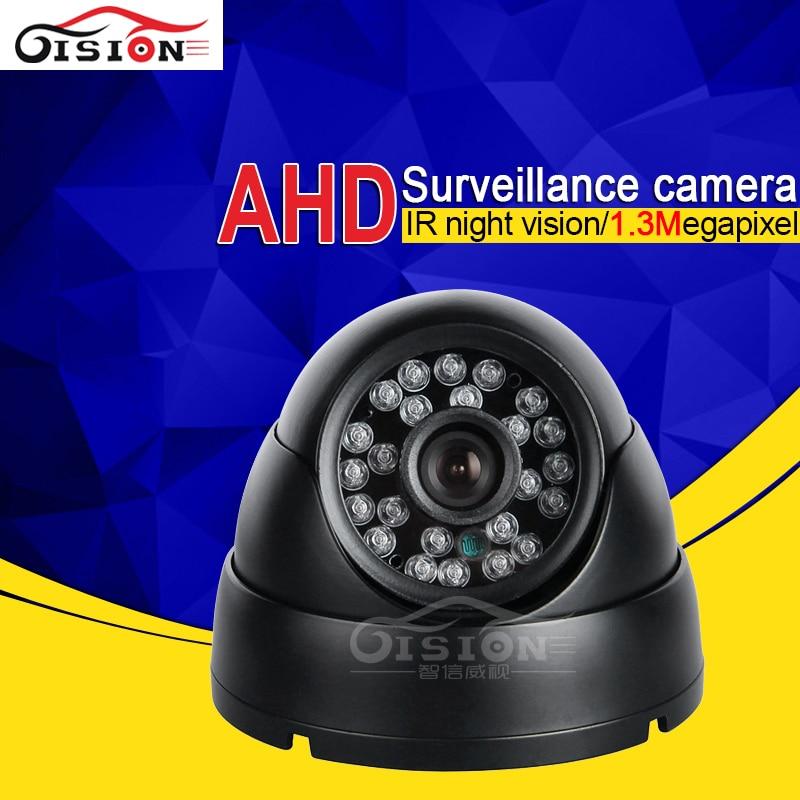 Free Shipping Metal Dom Indoor AHD Camera 1.3MP Vehicle Taxi Bus Camera Waterproof Night Vision IR Car Dvr Camera High Quality