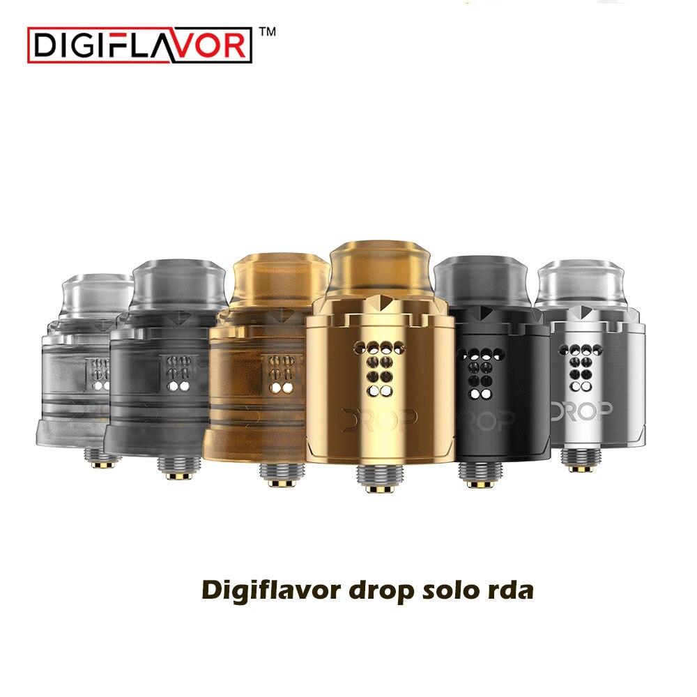 Grande vente Original digiaroma Drop Solo RDA simple bobine 22mm deux bouchons 510 et BF Squonk 510 pin base profonde VS lapin mort BF RDA