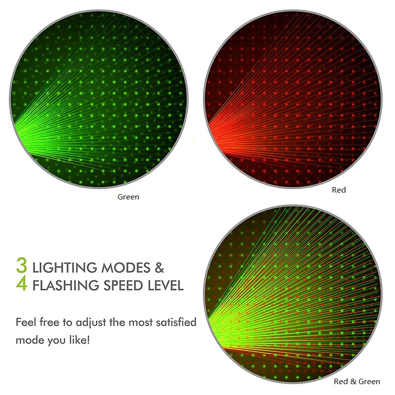 Laser weihnachtsbeleuchtung stern rot grün Projektor Outdoor Garten ...