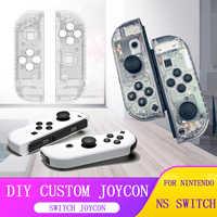 Per Nintendo Interruttore Ns Nx Joy-con Controller Fai da Te Personalizzati Custodia di Ricambio Gioia Contro Bianco Borsette per Il Caso di Nintendo interruttore Joycon