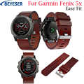 26mm Leather Watch Strap for Garmin Fenix 5X 3 Replacement Watch Band Quick Release Watchband for Garmin Fenix3 HR Fenix 5X Plus