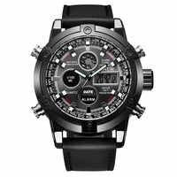 XINEW Vigilanza di Marca Degli Uomini di Lusso Dual Movt In Pelle da Uomo orologio Al Quarzo Analogico Digitale di Sport LED orologio Da Polso reloj hombre uomo 2019