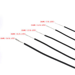 Image 3 - 1pin柔軟な本鎖 10 メートルワイヤー 20 ゲージawg 8 色キットpvc電線電気ケーブル、ledケーブル、diy