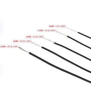 Image 3 - 1pin Flexible toronné 10 mètres fil 20 jauge AWG 8 couleurs Kit PVC fils câble électrique, câble LED, bricolage