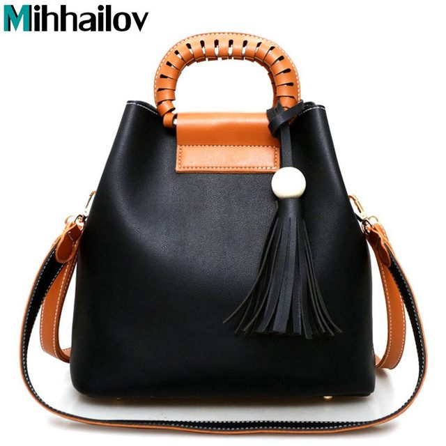 2017 Famous Brand Designer Tassel Pu Leather Tote Women Bag Women Shoulder Messenger Handbags Ladies Crossbody Bags KY-654