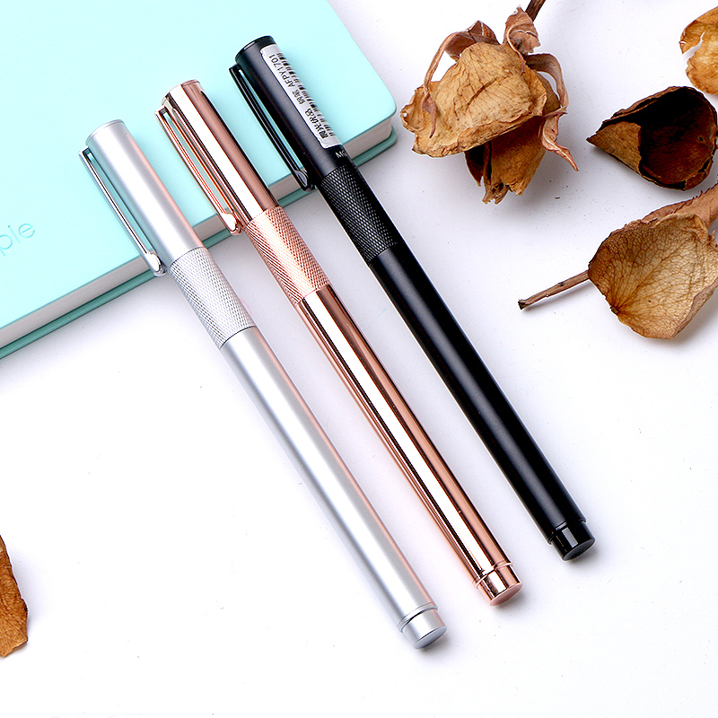 Free Shipping M&G Stationery superior products, metal pen, ink pen, 0.38mm signature, student office pen AFPY1701 with Gift Box