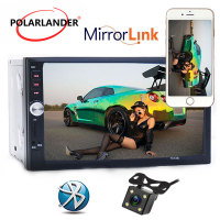 Car Radio Autoradio 7 2 Din LCD Touch Screen radio cassette player Bluetooth Support Mirror Link Rear View Camera 7012B FM