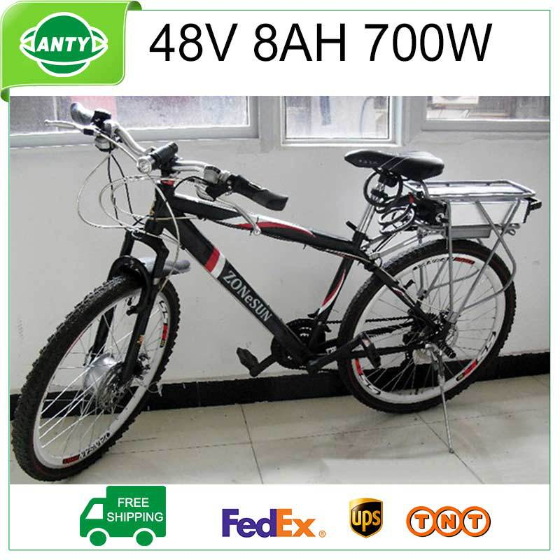 Ebike Battery 48v 8Ah 700W Electric Bike Scooter Battery 48v with 54.6V 2A Charger,15A BMS Lithium Battery 48v TNT Free Shipping free customs taxes super power 1000w 48v li ion battery pack with 30a bms 48v 15ah lithium battery pack for panasonic cell