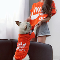 Fashion Summer New Yorkie Clothes For Bulldogs Cotton Mother And Child Pet Clothing For Cats Dog Clothes For Small Dogs 2pcs/set