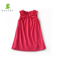 SVELTE For 3 7 Y Kids Girls Cotton Dresses Children Sleeveless Princess Vestido Summer Part A