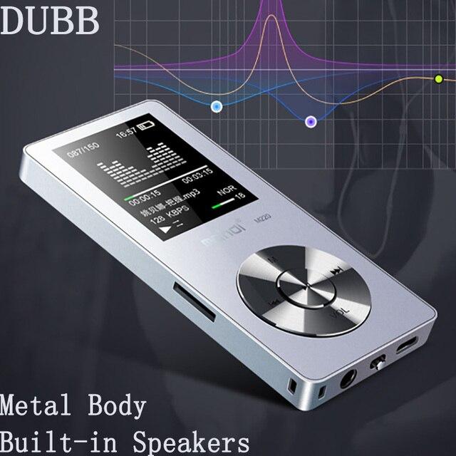 מהדי HIFI Lossless מתכת MP3 נגן מקליט FM וידאו ספר אלקטרוני 8 gb/16 גרם רדיו ספורט אלחוטי מוסיקה נגן תמיכת OTG קישור