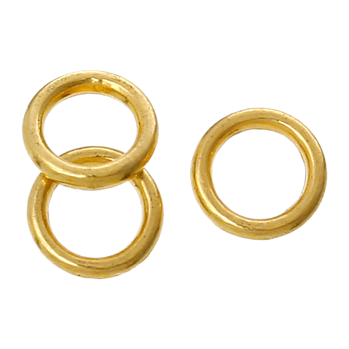 DoreenBeads Zinc Metal Alloy Closed Soldered Jump Rings Circle Ring Gold Color 6mm( 2/8