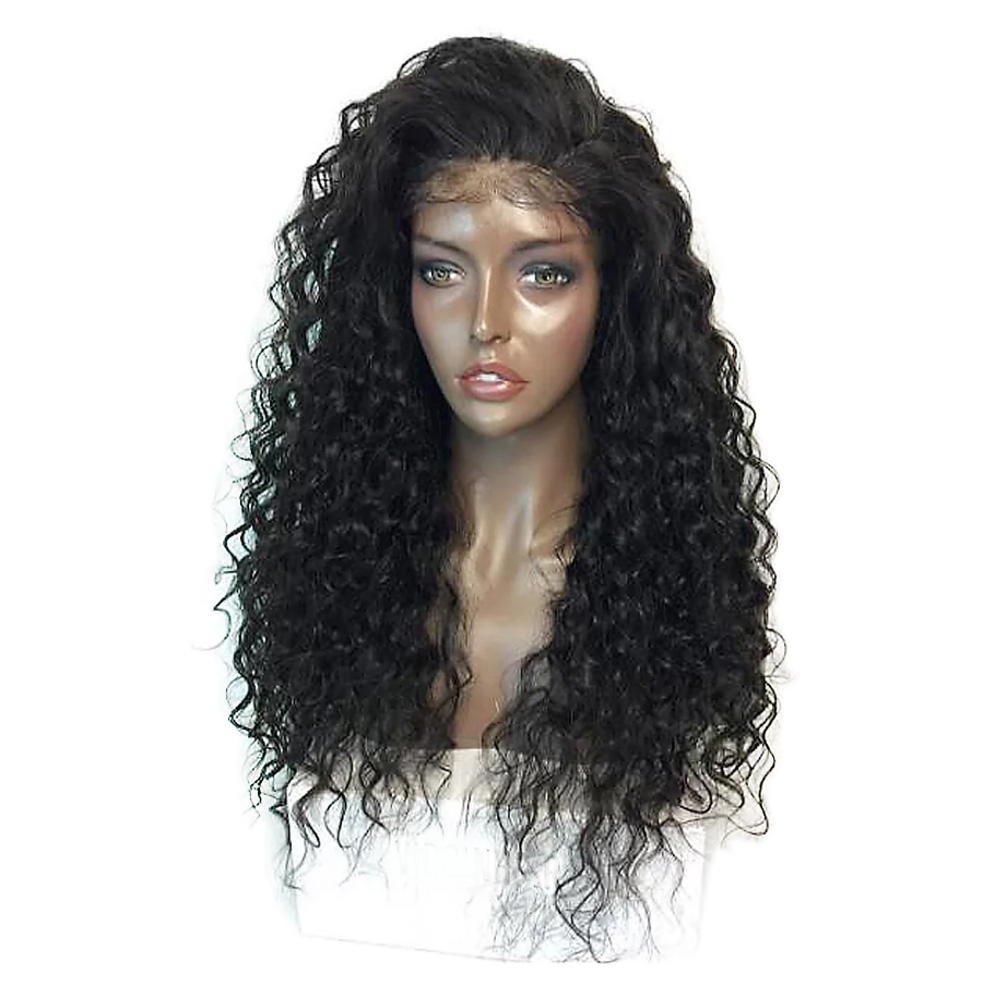 Imstyle 180 density Black Curly Wigs With Baby Hair For Afro Black Women Lace Front Wig