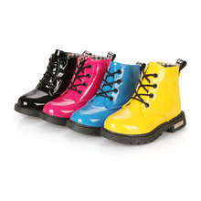 Imperméables pour enfants PU Bottes de Neige En Cuir Antidérapant Chaud D'hiver De Mode cheville Bottes Pour Enfants Fille Ou Garçon Chaussures 2015 Chaude chaussures
