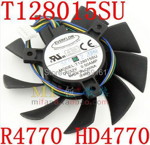 Free Shipping   T128015SU MSI R4770 HD4770 4PIN PWN graphics card  fan free shipping t