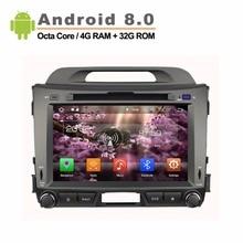 Android Quad core de 8 pulgadas para KIA Sportage Sportager Coches REPRODUCTOR de radio navegación 2din DVD Gps wifi