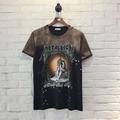 3D Printed METALLICA Thinker Pattern T-Shirt Top Tees Crewneck Justin Bieber Rappers Skate Masculinas Camisetas Hombre Hip Hop