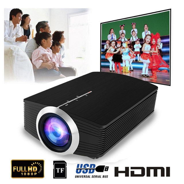Best Price YG500 Mini Projector 1080P home theater 5.1 Portable 1800Lumen LED Projector Home Cinema USB HDMI 3D Beamer Bass Speaker Projec