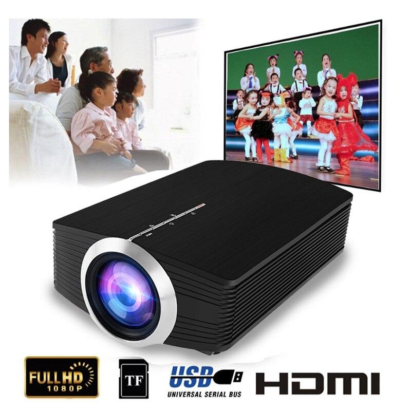YG500 Mini projecteur 1080 P home cinéma 5.1 Portable 1800 Lumen projecteur LED Home cinéma USB HDMI 3D Beamer basse haut-parleur Projec