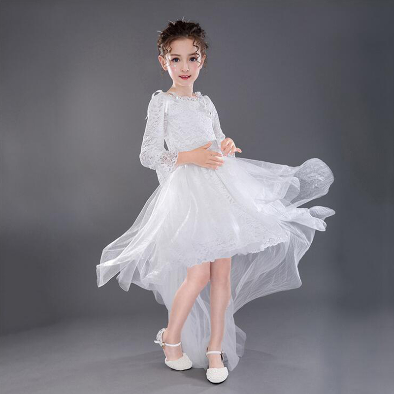 A-Line Princess Dress For First Communion Tulle Flower Girl Dresses For Weddding Knee-Length Long Sleeve Girls Pageant Dresses chinese style girls pageant sleeveless tulle a line flower girl dresses for wedding knee length first communion dresses for girl