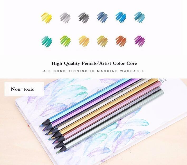 ᗗ12 Unids Color Del Artista Lapiz Metalico Lapis De Cor Dibujo