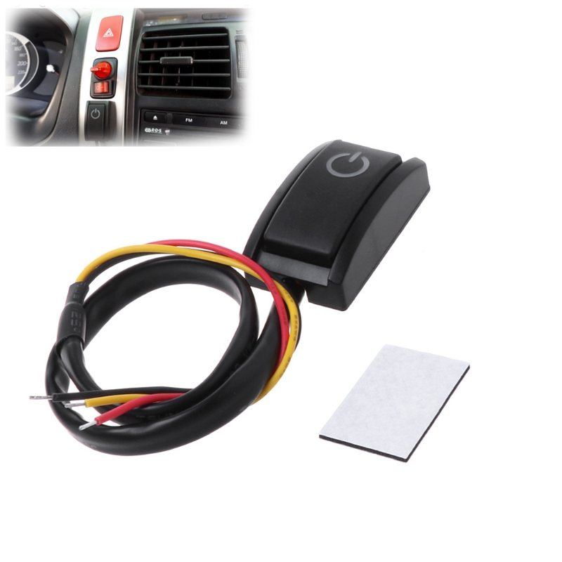 Car DIY Push Button Latching Turn ON OFF Switch LED Light DC12V/200mA 2.4W|Switches|   - AliExpress