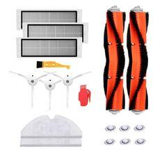 18 Pçs/set Casa Vácuo Robô de Limpeza Escovas de Peças de Filtro de Substituição para Xiaomi Mi Roborock s50 s51 Roborock 2 Aspirador de pó